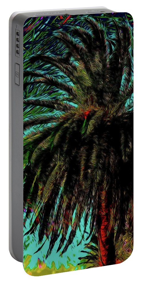 Palm Trees Portable Battery Charger featuring the photograph Palm Trees 40 Version 2 by Kristalin Davis