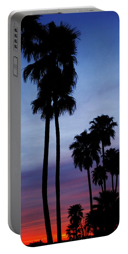 Palm Trees Portable Battery Charger featuring the photograph Palm Trees At Sunset by Jill Reger