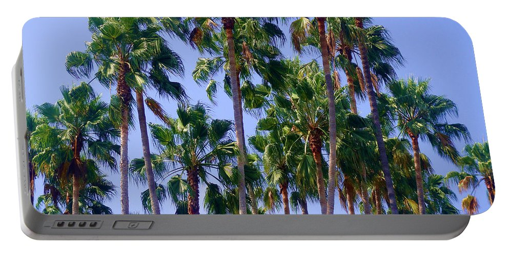 Palm Portable Battery Charger featuring the photograph Palm Trees. California, Sunny Beauty by Sofia Metal Queen