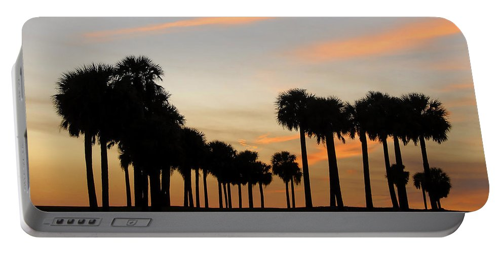 Palm Trees Portable Battery Charger featuring the photograph Palms At Sunset by David Lee Thompson