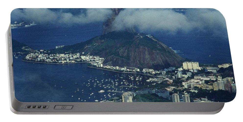South America Portable Battery Charger featuring the photograph Pan De Azucar - Rio De Janeiro by Juergen Weiss