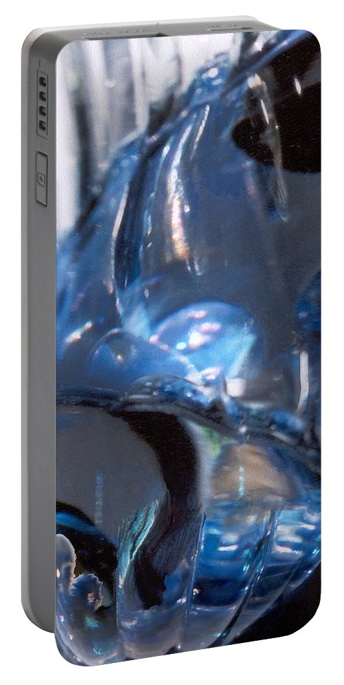 Glass Portable Battery Charger featuring the photograph Panel 2 From Swirl by Steve Karol