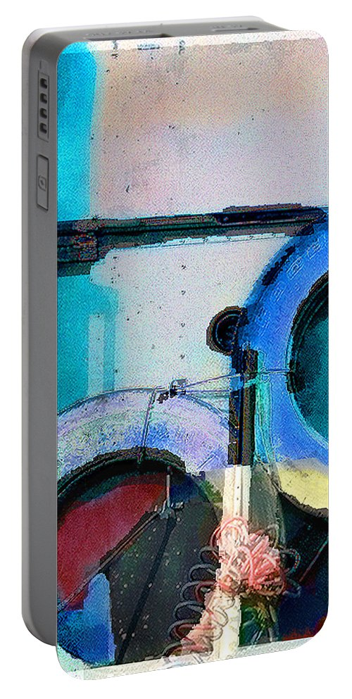 Abstract Portable Battery Charger featuring the photograph panel three from Centrifuge by Steve Karol