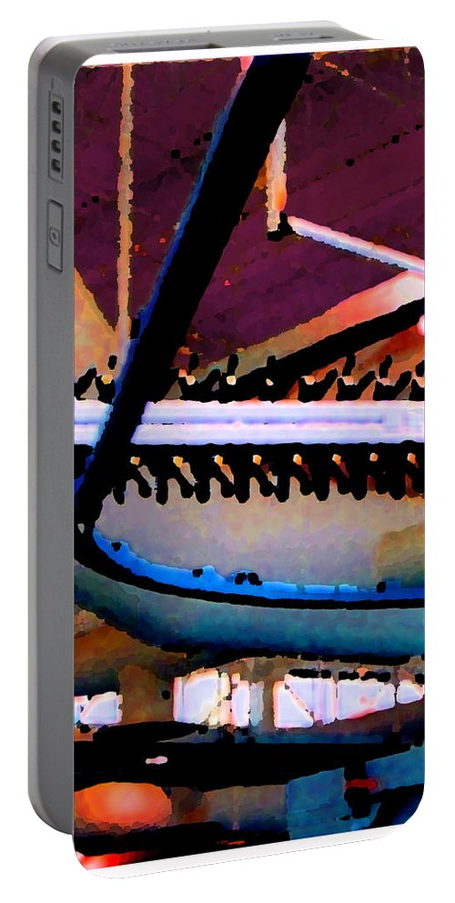 Abstract Portable Battery Charger featuring the photograph Panel Three From Star Factory by Steve Karol