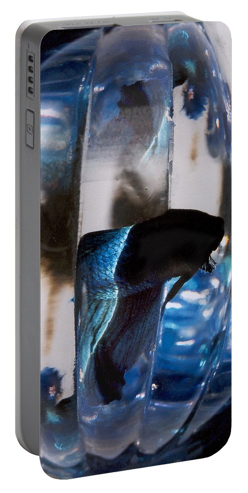 Abstract Portable Battery Charger featuring the photograph panel three from Swirl by Steve Karol