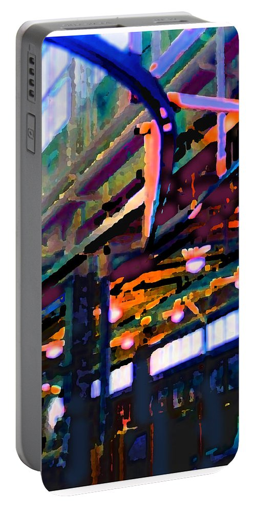 Abstract Portable Battery Charger featuring the photograph panel two from Star Factory by Steve Karol