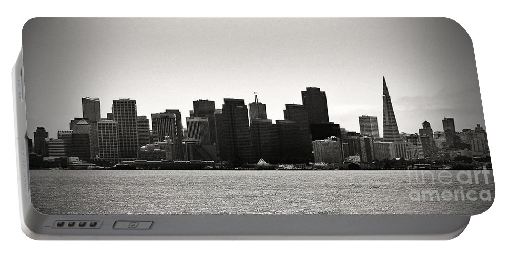 San Francisco Portable Battery Charger featuring the photograph Panoram-francisco by Edmund Mazzola