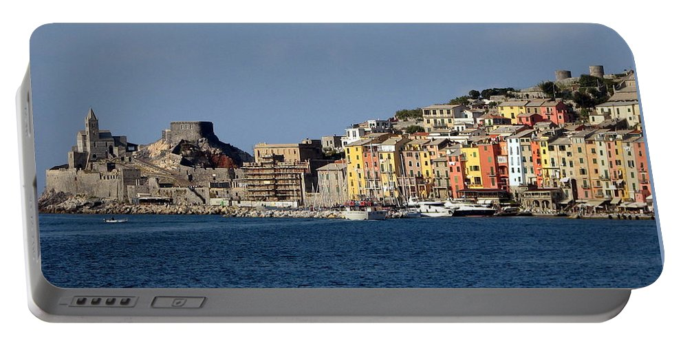 Portovenere Portable Battery Charger featuring the photograph Panorama Of Portovenere by Carla Parris