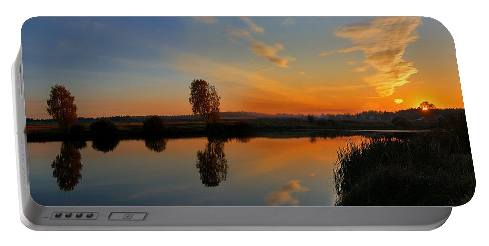Panorama Portable Battery Charger featuring the photograph Panorama Of Sunset by Yuri Hope