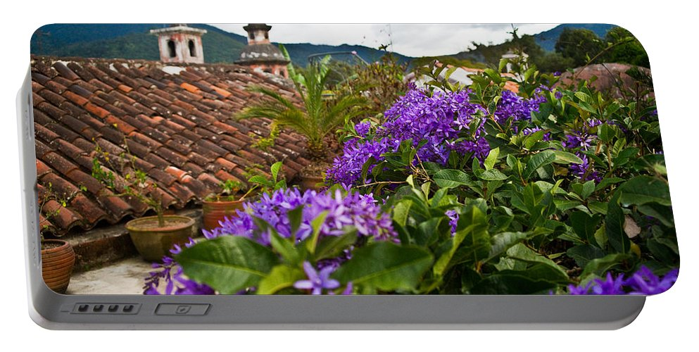 Panza Verde Portable Battery Charger featuring the photograph Panza Verde Hotel Rooftop 1 by Douglas Barnett