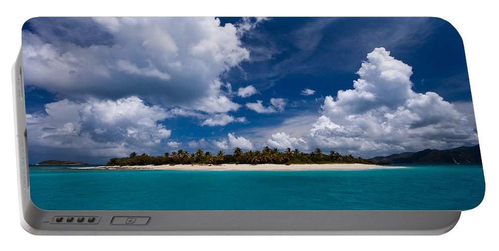 3scape Portable Battery Charger featuring the photograph Paradise Is Sandy Cay by Adam Romanowicz