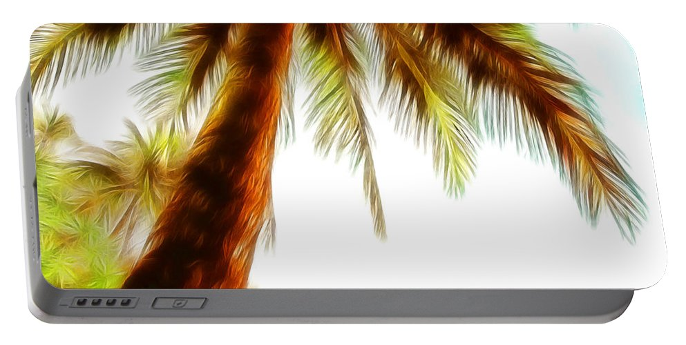 Tropical Palm Trees Portable Battery Charger featuring the photograph Paradise Palm by Athena Mckinzie