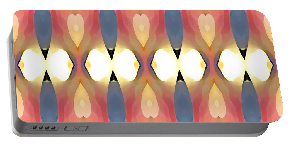 Abstract Art Portable Battery Charger featuring the painting Paradise Repeated by Amy Vangsgard