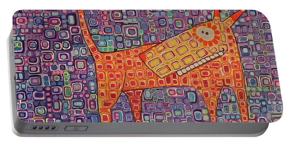 Pets Portable Battery Charger featuring the painting Paranoid by Donna Howard