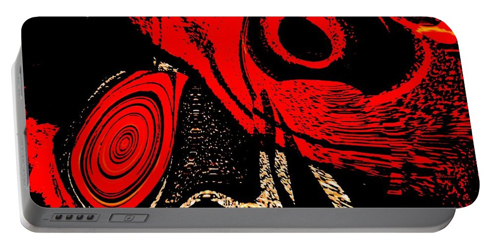 Delusion Portable Battery Charger featuring the digital art Paranoid by Max Steinwald