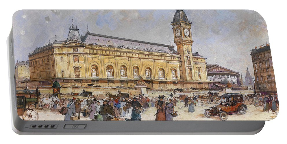 Painting Portable Battery Charger featuring the painting Paris by Eugene Galien-Laloue