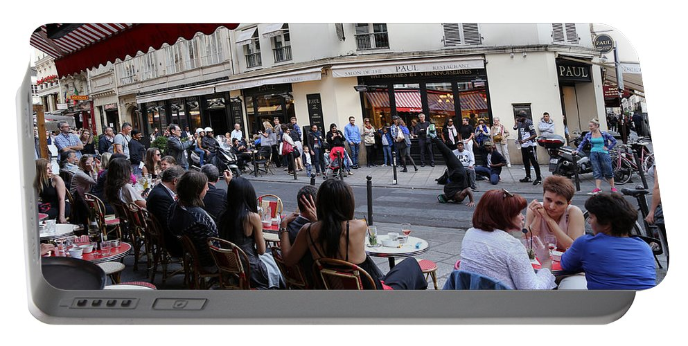 Paris Portable Battery Charger featuring the photograph Paris Street Life 5 by Andrew Fare