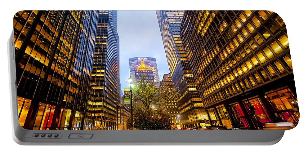America Portable Battery Charger featuring the photograph Park Avenue Nyc by Svetlana Sewell