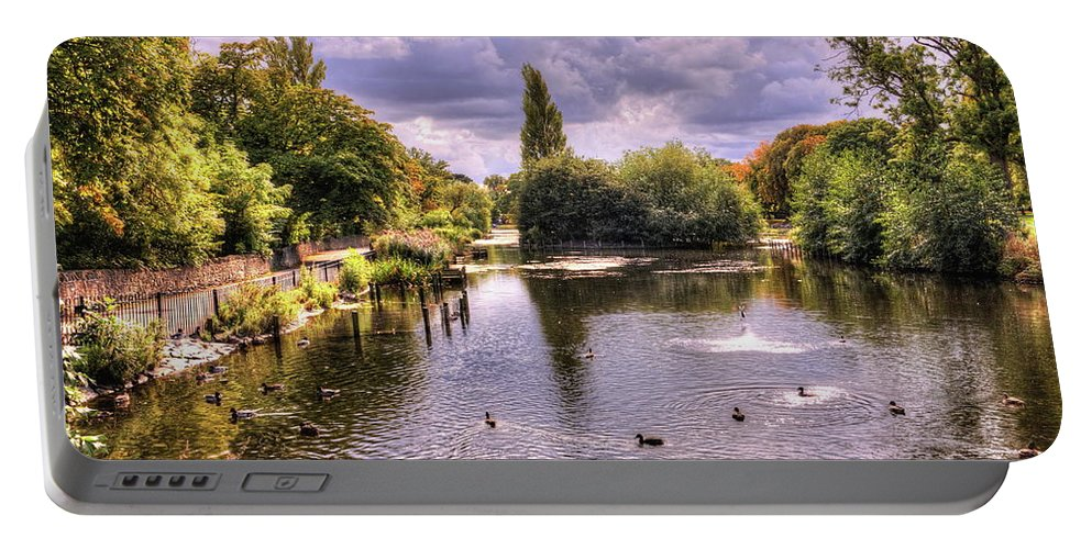 Park Lake Portable Battery Charger featuring the photograph Park Lake by Jeff Townsend