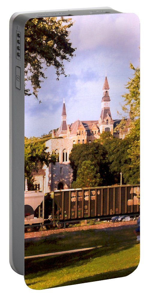 Landscape Portable Battery Charger featuring the photograph Park University by Steve Karol