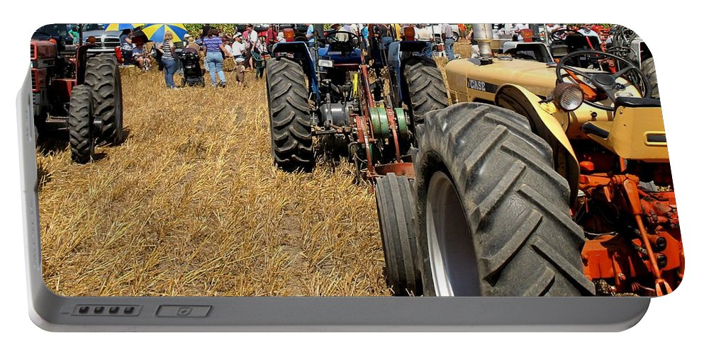 Tractors Portable Battery Charger featuring the photograph Parking For Lunch by Ian MacDonald