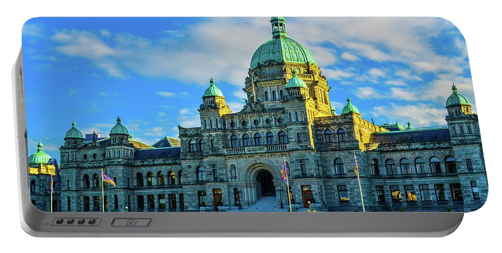 Buildings Portable Battery Charger featuring the photograph Parliament Victoria BC by Jason Brooks