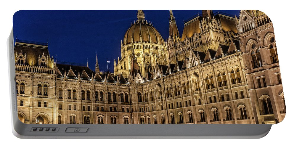 Photograph Portable Battery Charger featuring the photograph Parliment by Brent Kaire
