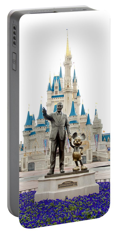 Disney Portable Battery Charger featuring the photograph Partners by Greg Fortier