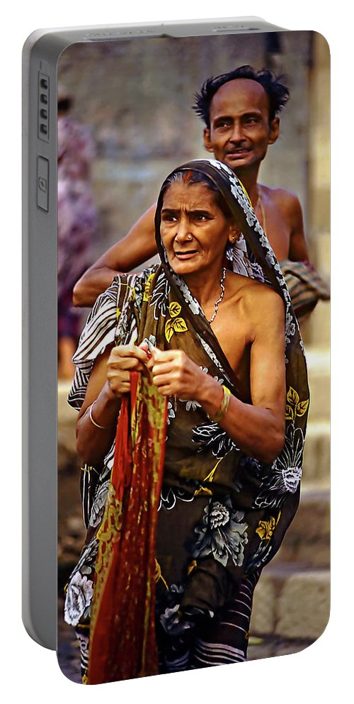 Varanasi Portable Battery Charger featuring the photograph Partners by Steve Harrington