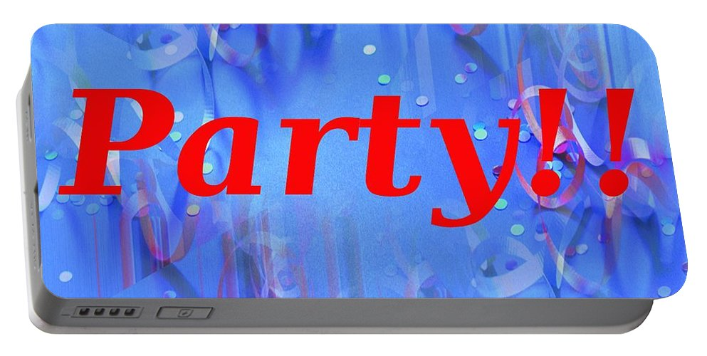 Celebrate Portable Battery Charger featuring the photograph Party by Tim Allen