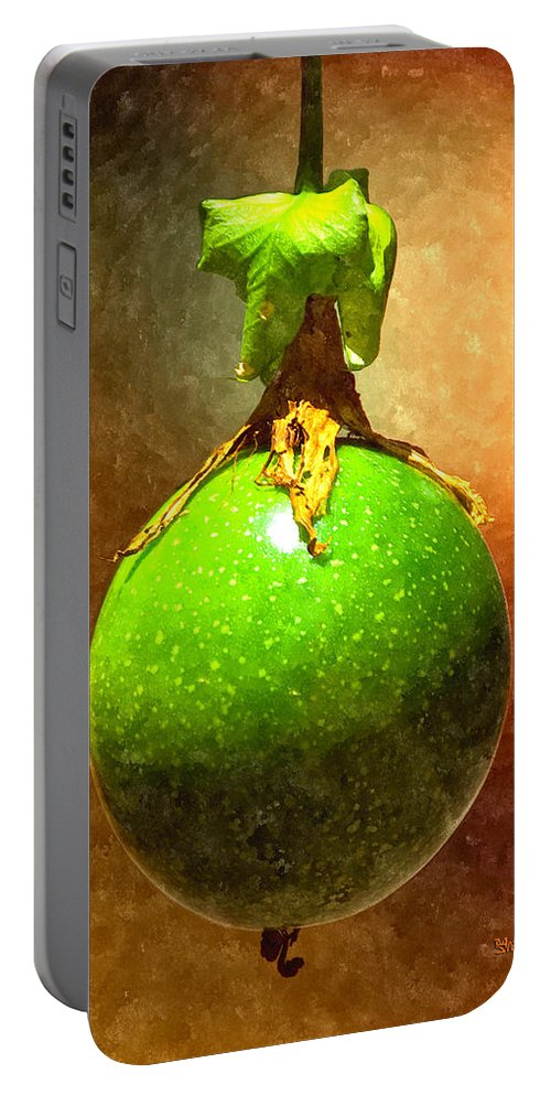 Passion Fruit Portable Battery Charger featuring the digital art Great Passion Fruit by Max Steinwald