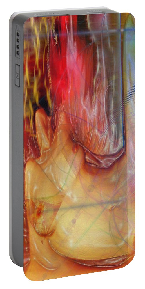 Passion Play Portable Battery Charger featuring the digital art Passion Play by John Beck