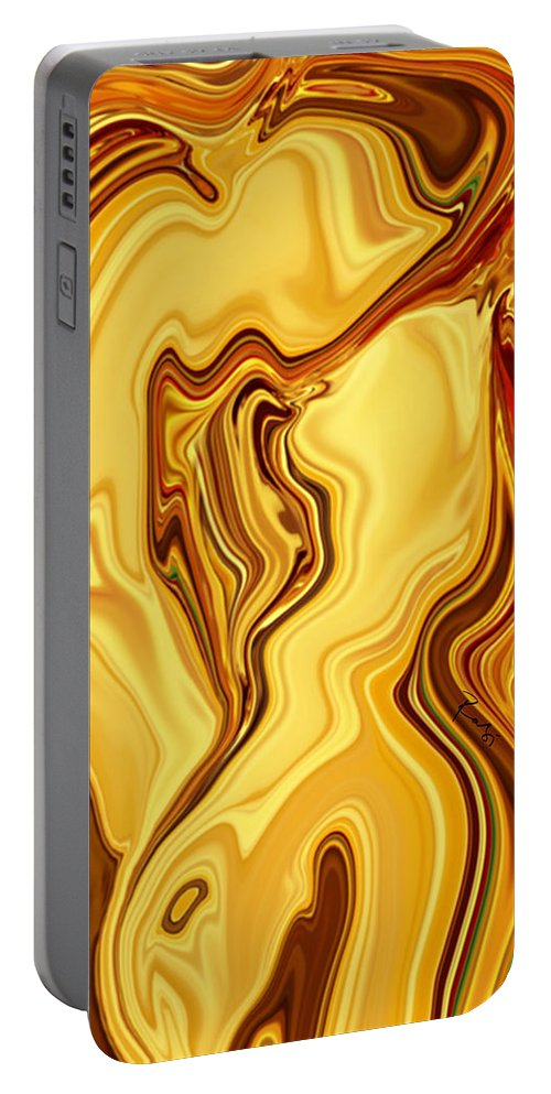 Abstract Portable Battery Charger featuring the digital art Passion by Rabi Khan