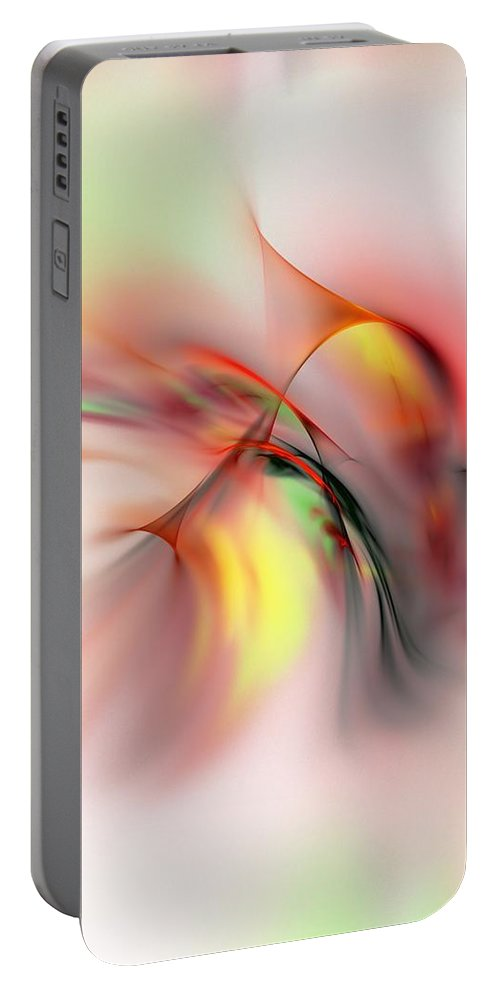 Digital Painting Portable Battery Charger featuring the digital art Passions Flame by David Lane