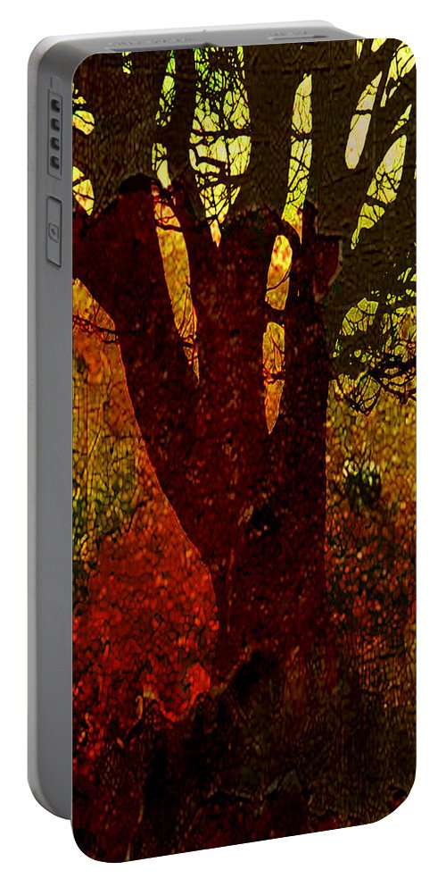 Tree Portable Battery Charger featuring the digital art Past Life by Ken Walker
