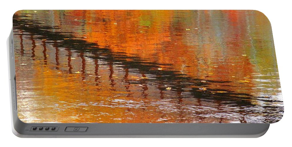 Abstract Portable Battery Charger featuring the photograph Past by Sybil Staples