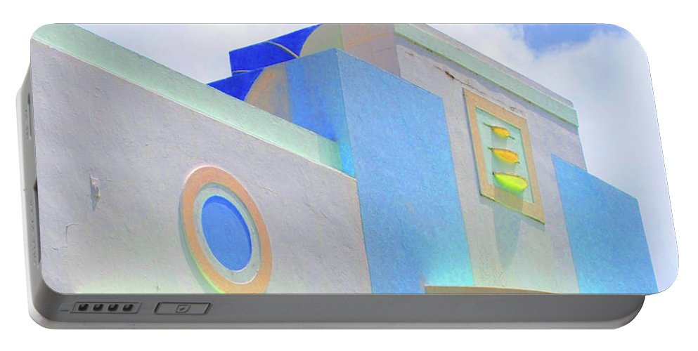 Miami Beach Portable Battery Charger featuring the photograph Pastel Deco Sky by Jost Houk