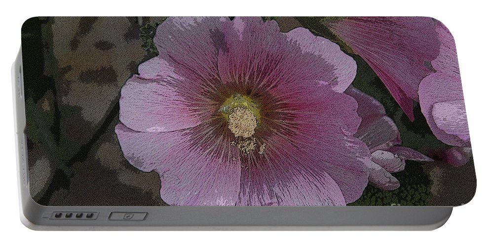 Art Portable Battery Charger featuring the painting Pastel Flower by David Lee Thompson
