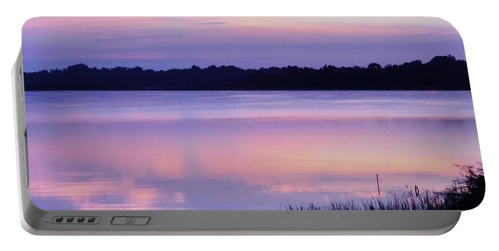Sunrise Portable Battery Charger featuring the photograph Pastel Morning by D Hackett
