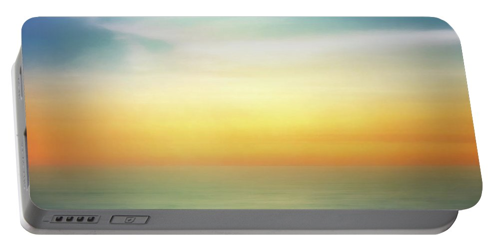 Pastel Portable Battery Charger featuring the digital art Pastel Sunrise by Scott Norris
