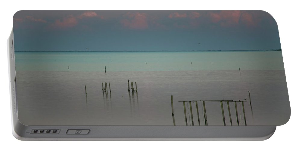 Pink Portable Battery Charger featuring the photograph Pastel Sunset In May by Paula OMalley
