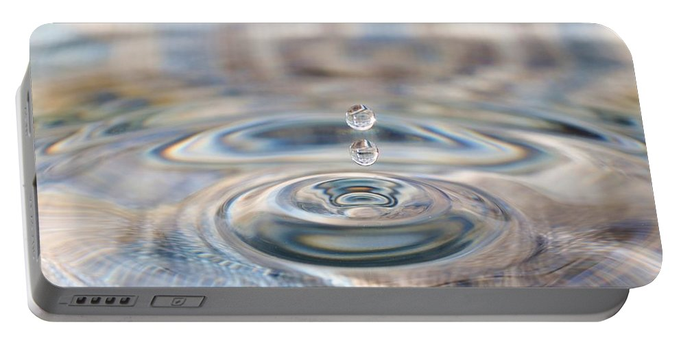 Water Drop Portable Battery Charger featuring the photograph Pastel Water Sculpture 1 by Kristina Jones