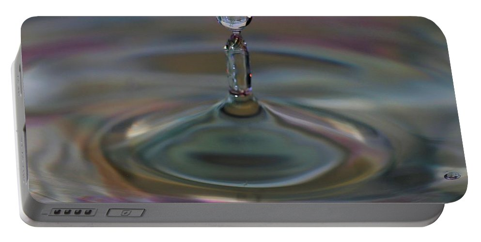 Water Drop Portable Battery Charger featuring the photograph Pastel Water Sculpture 11 by Kristina Jones