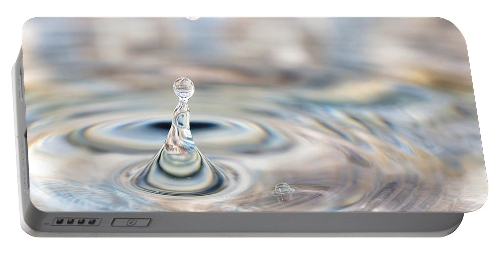 Water Drop Portable Battery Charger featuring the photograph Pastel Water Sculpture 4 by Kristina Jones