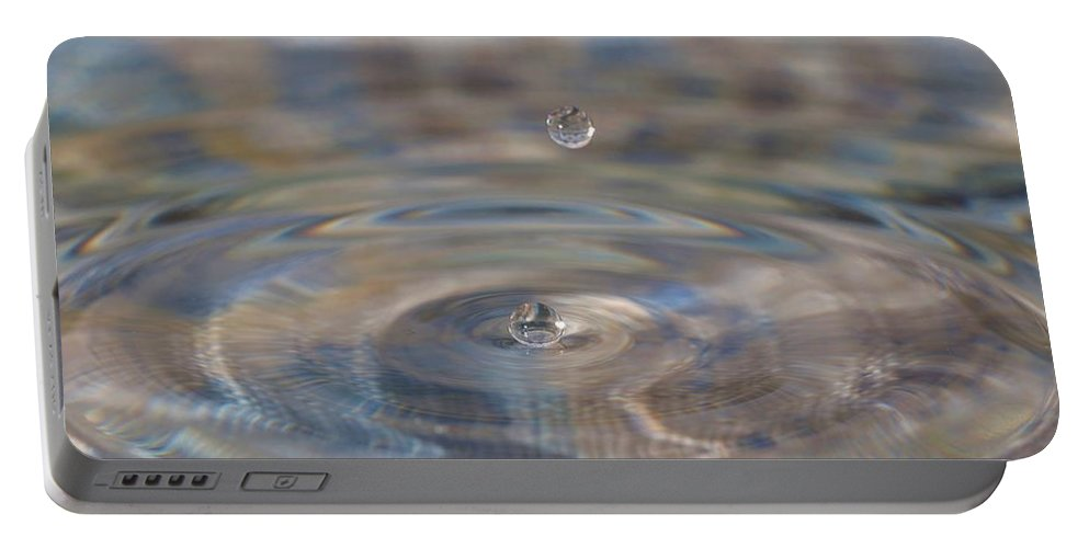 Water Drop Portable Battery Charger featuring the photograph Pastel Water Sculpture 5 by Kristina Jones