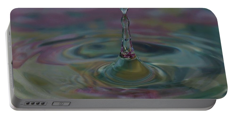 Water Drop Portable Battery Charger featuring the photograph Pastel Water Sculpture 8 by Kristina Jones