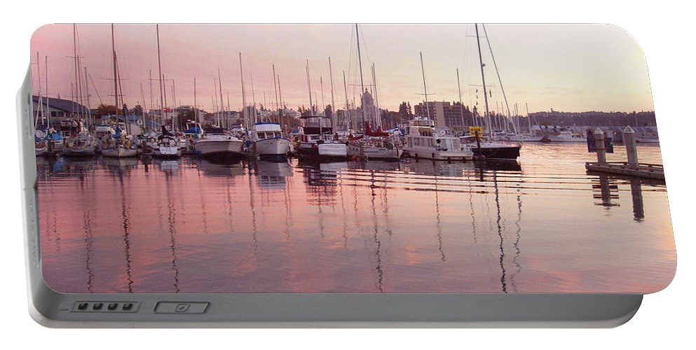 Pastel Portable Battery Charger featuring the photograph Pastel Waters by Deborah Crew-Johnson