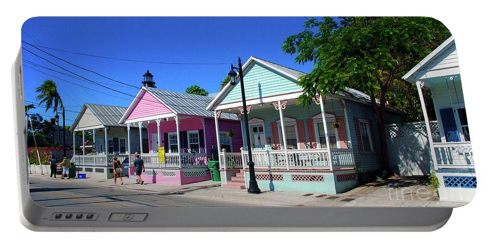Key West Portable Battery Charger featuring the photograph Pastels Of Key West by Susanne Van Hulst