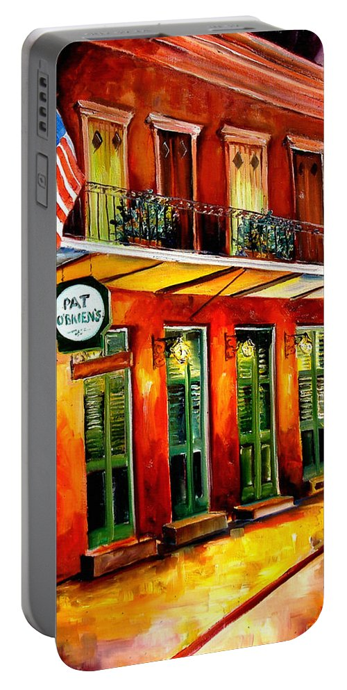 New Orleans Paintings Portable Battery Charger featuring the painting Pat O Briens Bar by Diane Millsap