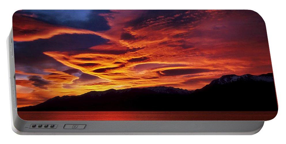 Patagonia Portable Battery Charger featuring the photograph Patagonian Sunrise by Joe Bonita